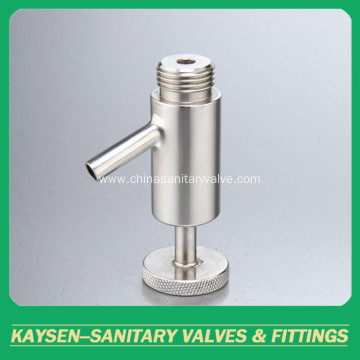 Sanitary threaded sample valves